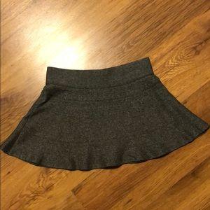Aritzia Talula grey flared skirt sz S